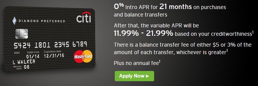 Citi Diamond Preferred, 10% APR for 10 Months - Danny the Deal Guru