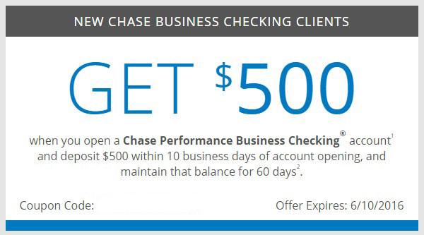 Chase Business Checking, $500 Bonus - Danny the Deal Guru