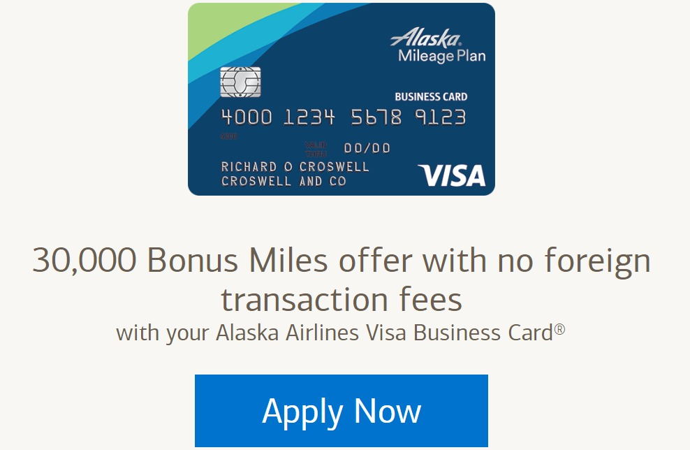 Alaska airlines business card 30k miles sign up bonus danny the alaska airlines business card 30k miles sign up bonus danny the deal guru reheart Gallery