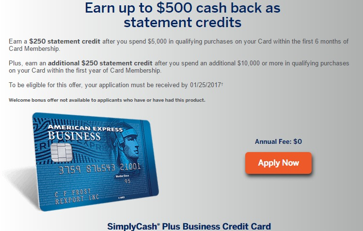 American Express Business Credit Card Promotion Best