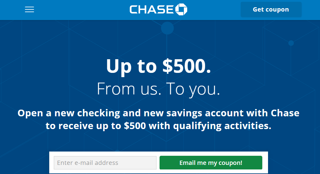[Expired] Chase $500 Checking & Savings Bonus With Public Link - Danny the Deal Guru