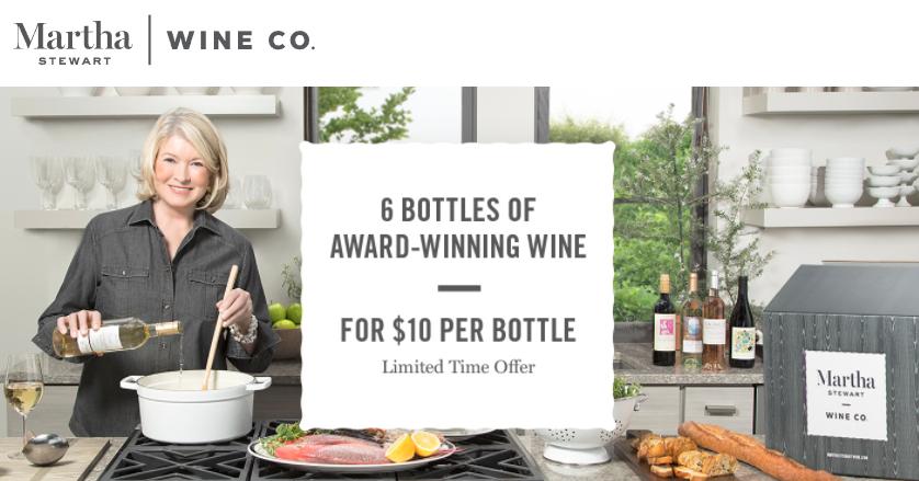 martha stewart wine promo code