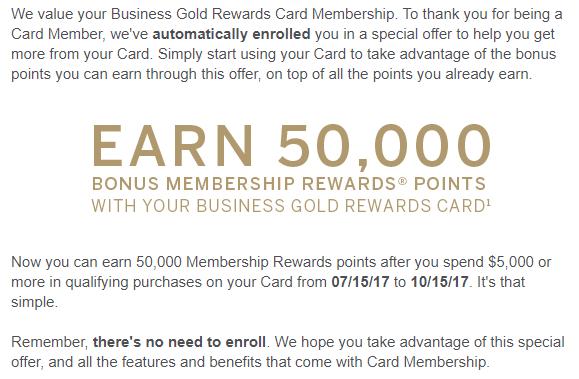 Amex Business Gold Rewards Card 50K Spending Bonus For