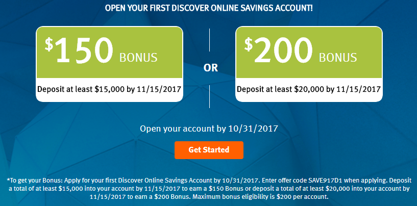 [Expired] Discover, Get Up To $200 With Your First Savings Account - Danny the Deal Guru