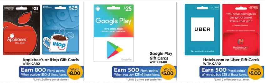 Discounted Gift Cards At Rite Aid; 20% Off Uber, Google Play ...