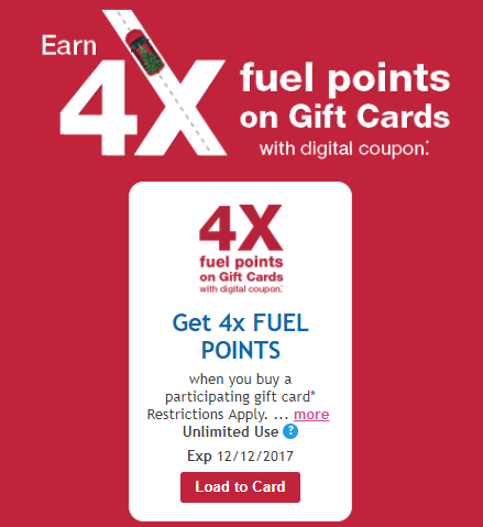 Expired Kroger Gift Card Sale 4x Fuel Points And Lots Of Other Gift Card Coupons Danny The Deal Guru