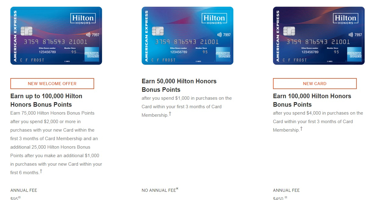 new american express hilton cards bonuses announced total. Black Bedroom Furniture Sets. Home Design Ideas