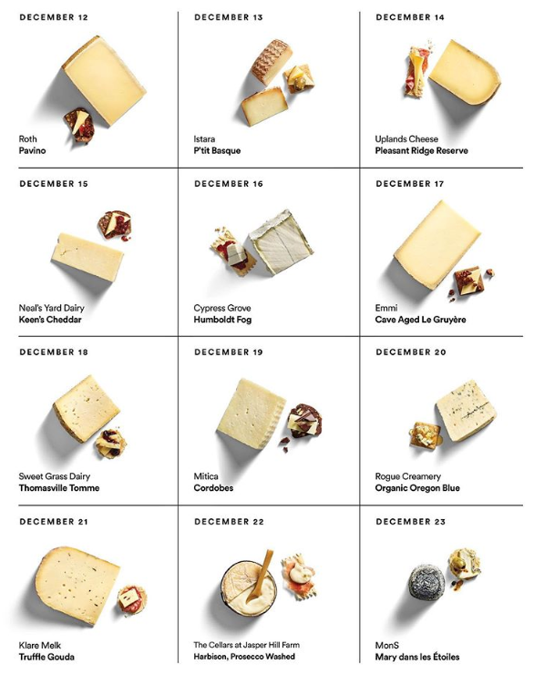 """Whole Foods """"12 Days of Cheese"""""""